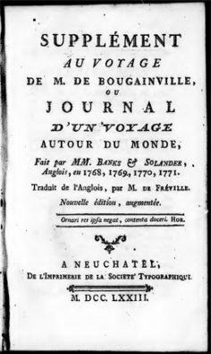 Supplément au voyage de M. de Bougainville