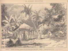 La fête nationale à Tahiti – Himene de Raiatea (1884)