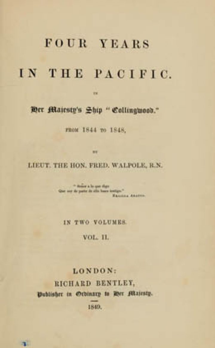 """Four years in the Pacific : In Her Majesty's ship """"Collingwood from 1844 to 1848 – Volume II"""