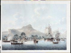 Vue de Huahine, une des îles de la Société dans les mers du sud (1787)