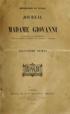 Journal de Madame Giovanni de Alexandre Dumas (1858)