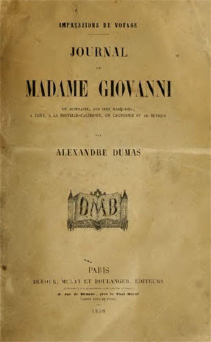 Journal de Madame Giovanni de Alexandre Dumas (1858)