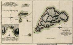 Carta de la Isla de Pascuas, ó Tierra de Dàvis & Carta de las Islas llamadas Las Marquesas de Mendoza Por D. Thomás Mauricio Lopez (1797)