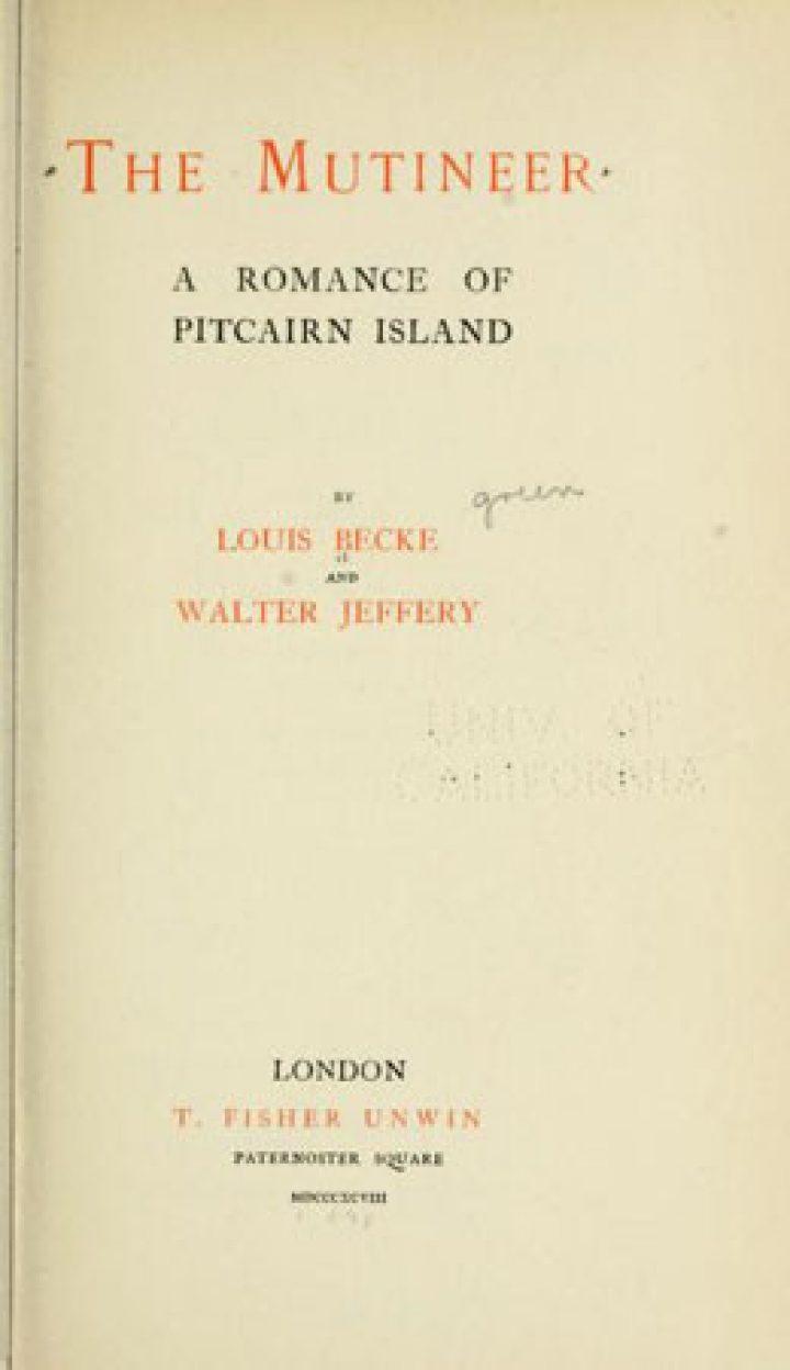 The mutineer, a romance of Pitcairn island (1898)