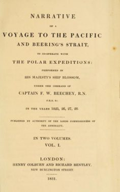 Narrative of a voyage to the Pacific and Beering's strait – Volume I (1831)