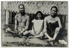 Trois Tahitiens atteints de la lèpre  (1895)