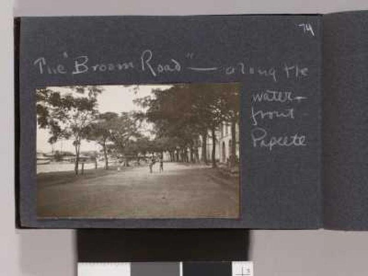 Route du front de mer à Papeete – Album photos de Jack London (1907/1908)