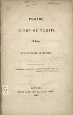 Pomaré, Reine de Tahiti (1847)