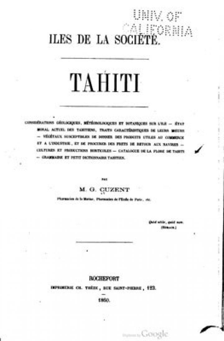 Iles de la Société – Tahiti (1860)