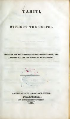 Tahiti without the Gospel (1833)