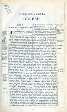 Te Bibilia Moa Ra : oia te Faufaa Tahito e te Faufaa Apî Ra, iritihia ei Parau Tahiti (1878)